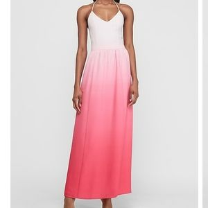 Express Ombre Halter Dress